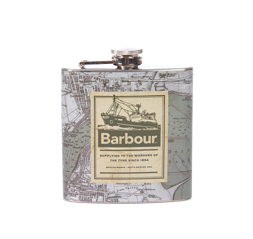 Archive Map Hip Flask
