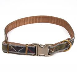 Reflective Tartan Dog Collar